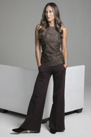 Leopard and Mahogany Perfect Wide Leg Pant Lifestyle