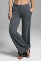 Ultra Soft Terry Yoga Sweatpant in Charcoal Grey front view