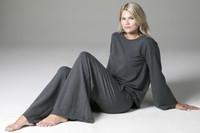 Grey Sweatshirt and Sweatpant Loungewear Yoga Set Lifestyle