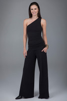 Cozy boho wide leg pants in black outfit