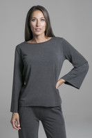 Cozy Sweatshirt in Charcoal Heather front view