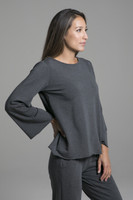 Grey Layering Scoop Neck Pull Over