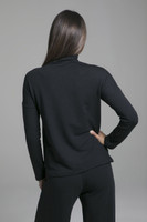 French Terry Layering Pull Over in Black back view