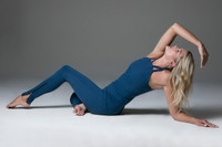Oceana Blue Yoga Outfit Yoga Pose