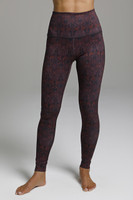 High Rise Ornamental Print Yoga Tights front view