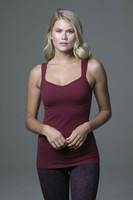Duchess Sculpting Yoga Tank in Red Bordeaux