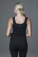 Yoga Tank in Black back view