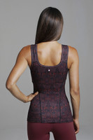 Thick Strap Red Yoga Cami back view