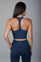 Grace Vinyasa Yoga Crop Top (Iris Heather) back