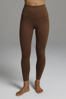 High waisted 7/8 yoga legging in bronze