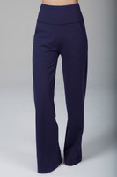 marine navy high waist pant with pockets