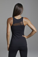 Rendezvous Yoga Tank Top in Black Back View