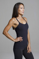 Warrior Y-Back Yoga Tank (Black) supportive side view