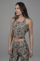 midi yoga tank in leopard print