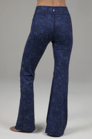 Back View Paisley Flared Bootcut Yoga Pants