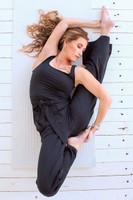 black yoga jumpsuit