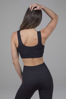 Black Seamless Activewear Bra