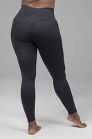 Ribbed High Waist Yoga Leggings in Black