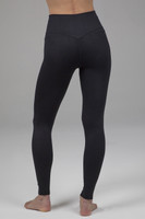 High Waist Ribbed Yoga Tights in black