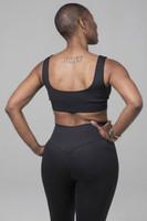 Black Yoga Bra with open back