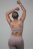 Scoop back yoga bra back