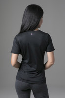 yoga tee shirt in athletic fabric