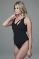 yoga bodysuit with cut-out