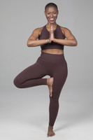 Tree yoga pose in seamless collection