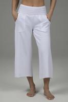 KiraGrace Cozy Boho Crop Yoga Pant (White)