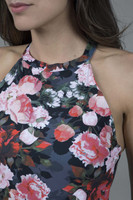 Supportive Floral Yoga Halter Top