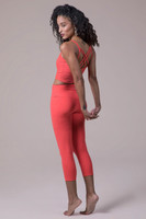 Coral Activewear Crop Top and Legging Outfit