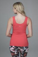 Pink Activewear Tank Top back view