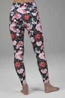 Compressive High Waist Leggings in Floral pattern