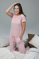 Pink Loungewear Top and Pant Set