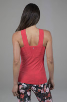 Supportive yoga tank for large busts in pink