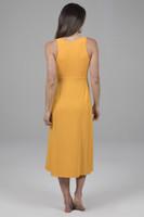 Yellow Midi Dress Back view