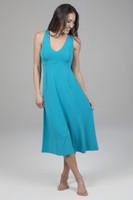 Spring Mid Length Dress with V-neck