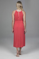 Midi Spring Dress with Pockets and Tie Waist