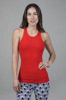 Grace Vinyasa Yoga Racerback Fiery Red Front