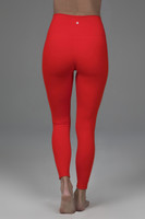 bright red yoga leggings