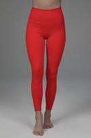 red yoga leggings