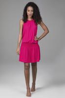 Raspberry Grace Yoga Dress Front