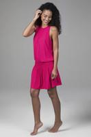 Raspberry Grace Yoga Dress Side