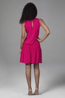 Raspberry Grace Yoga Dress Back View