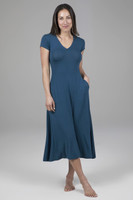 short sleeve dress in blue