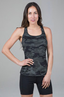 Olive Camo Essential Racerback Front View