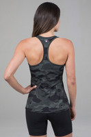 Olive Camo Essential Racerback Back View