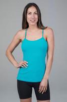 Victoria Y-Back Yoga Tank Tile Blue