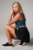 blue leopard crop top with pleated skort
