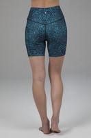 Duchess Biker Short Blue Leopard Back